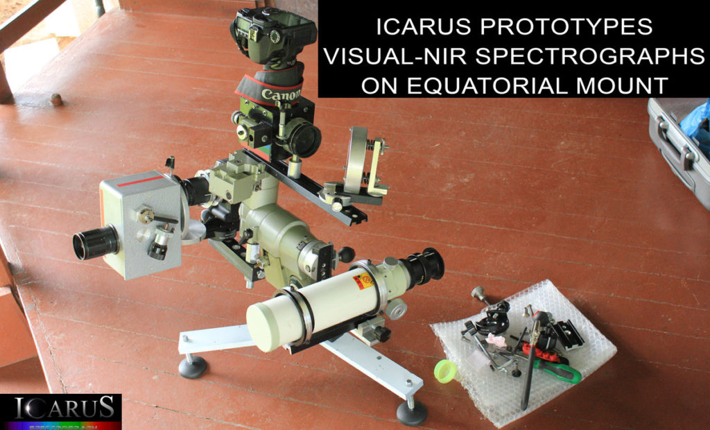 Icarus-Spectrograph prepared for the Eclipse observations of 2013